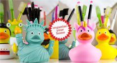 my toothie duck, die lustigen Enten für Zahnbürsten, Stifte, Kosmetikpinsel und mehr ...