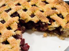 Sweet Cherry Pie from @Serious Eats