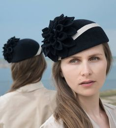 Damen Hut, elegant, exklusiv, millinery, handgefertigt, romantisch, 20er Jahre, handcrafted, ausgefallen, felt hat, Hochzeit, wedding, Diva