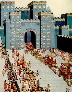 The Ishtar Gate, Ancient Babylon, Iraq