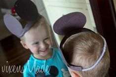 Doesn't everyone love Mickey Mouse?My kids do too and since my daughter is always the one bursting with ideas. She decided she wanted to make a Mickey Mouse craft. I decided on some fun ears that the kids could wear. Mickey Mouse Crafts, Mickey Mouse Ears, Toddler Crafts, Crafts For Kids, Some Fun, To My Daughter, Logan, Monkey, Parties