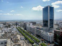 Tunis Túnez Paisaje Urbano Ciudad Rascacielos