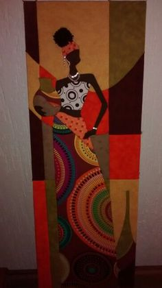 Africana patchwork sin aguja