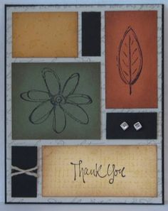 All Natural Thank You using Stampin Up All Natural retired hostess stamp set.