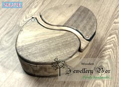 Handmade wooden jewellery box.