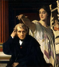 Ingres: Luigi Cherubini and the Muse of Lyric Poetry, 1842