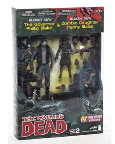 McFarlane Walking Dead Comic Series 2 Governor and Penny 2 Pack Bloody