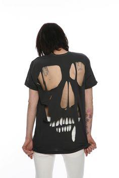 cut out skull t-shirt