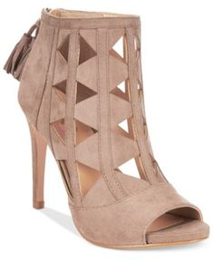 XOXO Catalina Cut-Out Peep-Toe Booties - Boots - Shoes - Macy's