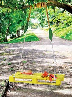 reused pallet swing