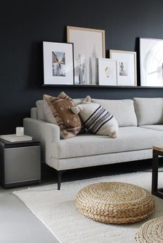 This cozy, hygge inspired living room from @kimmytx is made complete with the Cube Air Purifier by Samsung. It keeps her family comfy and safe by removing dust and reduces allergens, bacteria, and odors. Click to learn more about Samsung's tech-based solutions that will keep your home healthy and clean! Home Design Living Room, My Living Room, Home And Living, Living Room Decor, Living Spaces, Apartment Living, Clean Apartment, Living Room Inspiration, Rum