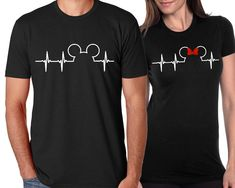 Disney Couples ShirtsCouples Disney ShirtsDisney Family ShirtsDisney ShirtDisney Heartbeat ShirtDisney Addict Shirt by OhMyPoshGifts on Etsy - Family Shirts - Ideas of Family Shirts Disney Couples, Disney Shirts For Family, Shirts For Teens, Disney Disney, Couple Outfits, Disney Outfits, Disney Clothes, Disney Familie, Frozen Inspired Outfits