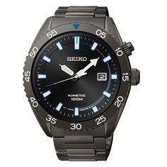 Seiko Seiko Core SKA625 Kinetic 44mm Men's Gunmetal Watch