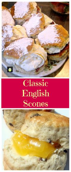 The Best Scone Recipes - Step by step recipe with tips on how to make perfect flaky, buttery cream scones, that are so addictive! Tea Recipes, Breakfast Recipes, Dessert Recipes, Cooking Recipes, Scone Recipes, English Scones, English Food, English Recipes, Crack Crackers