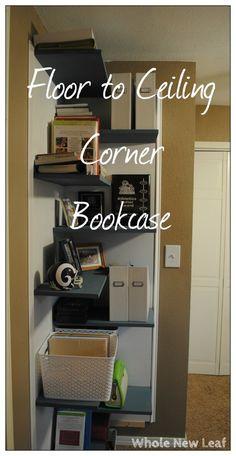 Floor To Ceiling Corner Bookcase