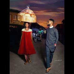 A Nigerian bread seller has landed a modelling contract after walking by chance in to shot during a photoshoot for pop star Tinie Tempah. The London rapper was visiting the country of his parents' birth, where he took part in a shoot with Nigerian photographer and singer/songwriter Ty Bello.