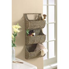 TAG Coffee Seagrass 3-part Wall Basket | Overstock.com Shopping - The Best Deals on Baskets & Bowls