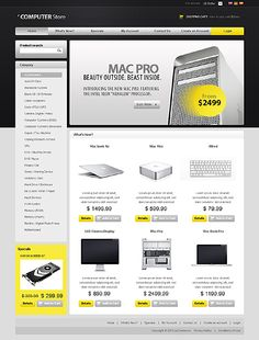 Computer Online osCommerce Templates by Mercury