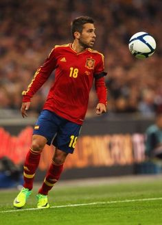 Jordi Alba. Great skilled and fast left back, former player at Valencia now playing for FC Barcelona and the Spanish national football team