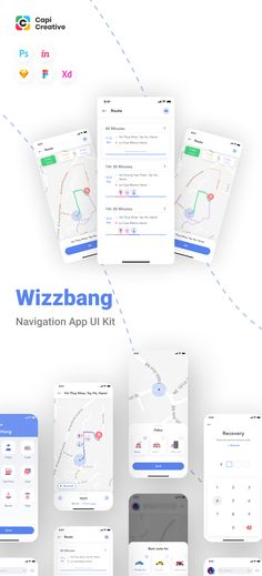 Wizzbang is a traffic alert app that is the the real-time traffic information provided by riders. You can get the current status on the road to avoid traffic jam, accident spots. App Design Inspiration, Mobile App Design, Ui Kit, App Ui, Wow Products, Save Yourself, Web Design, Learning, Design Web