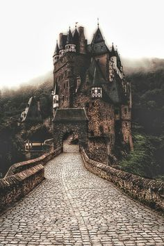 Eltz Castle in the Mist -  #Germany      #EltzCastle  is a medieval castle nestling in the hills above the Moselle River between Koblenz and Trier, Germany. It is still owned by a branch of the same Eltz family that lived there in the 12th century, 33 generations ago. –Wikipedia  Photo by Ryan Wyckoff