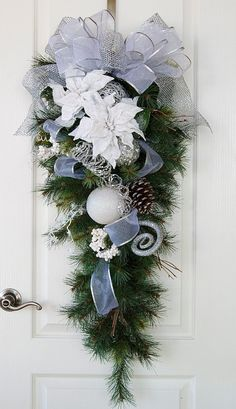 Hey, I found this really awesome Etsy listing at https://www.etsy.com/listing/168156331/snowy-christmas-swag-silver-and-white
