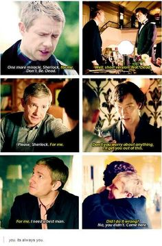 My head canon: Sherlock has always been in love with John but has absolutely no idea what to do with that emotion. He ships John and Mary because Mary makes John happy, John has made it very clear that he's NOT GAY, and Sherlock would have absolutely no idea how to try to actually be in a relationship with someone he actually really loves. What he can do: Protect the life John has chosen for himself. With everything he has.