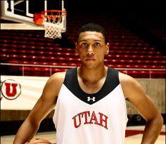 Utah sophomore forward Jordan Loveridge won the Pac-12 Player of the Week award on Monday, Dec. 16, 2013 (Photo credit: Christopher Reeves) University Of Utah, Local News, Pacific Northwest, Photo Credit, Conference, Tank Man, Jordans, Basketball, Sports