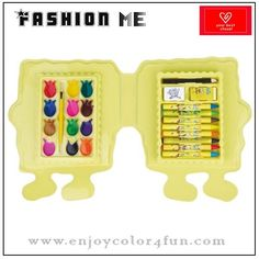 24pcs stationery box set Item: 24 pcs stationery box set Box size: 22*18.2*2.7 cm Composition:  1. 12 pcs pancake             2. 8 pcs crayons 3. 1 pc paint brush            4. 1 pc sharpener 5. 1 pc eraser                      6. 1 pc color pencil Material: innocuity and safety Packing: under customers' requirements MOQ: 5000sets