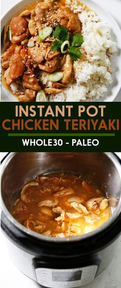 This Instant Pot Teriyaki Chicken is made with only 8 ingred.- This Instant Pot Teriyaki Chicken is made with only 8 ingredients and no unrefined sweeteners. It is simple, flavorful and perfect for a weeknight dinner. Teriyaki Chicken, Instant Pot, Soy Sauce Alternative, Clean Dinner Recipes, Tasty Meals, Broccoli, Lexi's Clean Kitchen, Dump Meals, Paleo Recipes