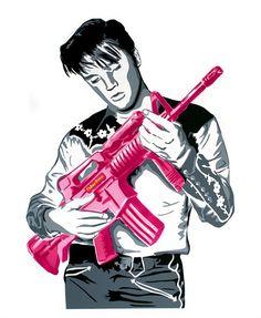 Don't Be Cruel (Pink) by Mr Brainwash