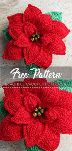 Beautiful crochet Poinsettia – Pattern Free – Easy Crochet Beautiful crochet Poinsettia – Pattern Free – Easy Crochet,Blumen, Blätter, Früchte Beautiful crochet Poinsettia – Pattern Free – Easy Crochet There are images of the. Crochet Christmas Decorations, Crochet Christmas Ornaments, Crochet Decoration, Crochet Crafts, Crochet Projects, Easy Crochet, Crochet Things, Diy Crafts, Crochet Motif