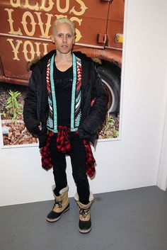 Jared Leto at Art Exibibition At Galerie Perrotin - Terry Richardson exhibition - Paris Fashion Week .- 06-03-2015