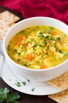 Chicken Couscous, Chicken Orzo Soup, Pasta Soup, Cooked Chicken, Lemon Chicken, Soup Recipes, Dinner Recipes, Cooking Recipes, Healthy Recipes
