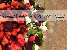 How To Get Someone To Eat Their Greens:Roasted Beet & Carrot Salad (Food Babe). Took a little work getting the kids to eat it, but they did! Roasted Beets And Carrots, Roasted Beet Salad, Carrot Salad, Whole Food Recipes, Vegetarian Recipes, Healthy Recipes, Beet Recipes, Clean Eating Recipes, Cooking Recipes