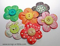 Circle punch button flowers