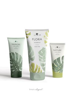 Cosmetic Design, Modern Tropical, Watercolor Leaves, Beauty Packaging, Grafik Design, Shape Design, Packaging Design Inspiration, Beauty Care, Pantone Book