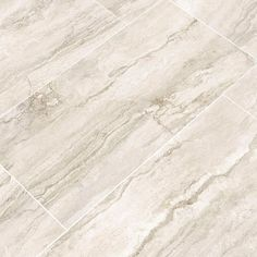 MSI Pietra Bernini Bianco 12 in. x 24 in. Polished Porcelain Floor and Wall Tile sq. / - The Home Depot Bathroom Floor Tiles, Wall Tiles, Kitchen Flooring, Tile Flooring, Kitchen Tile, Flooring Ideas, Kitchen Design, Master Bath Tile, Rubber Tiles