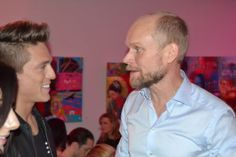 Danny Saucedo och Kristian Luuk på efterfest i Karlskrona