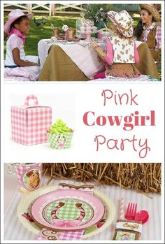 {CUTE!} Pink Cowgirl Party from Birthday Express