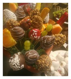 Fruits and chocolate