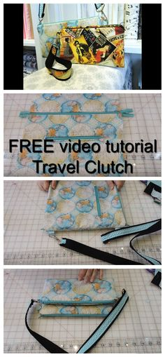 If you want to make your very own travel clutch then why not watch this quick and easy video. You will learn how to sew an excellent travel clutch that you store your travel documents and possibly your passport. You can make this clutch in any fabric you Scarf Storage, Bag Storage, Sewing Tutorials, Sewing Projects, Sewing Ideas, Beginners Sewing, Quilting Projects, Kids Clothes Storage, Diy Bags Purses