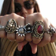 ☮ American Hippie Bohéme Boho Style Jewelry ☮ Rings