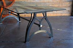 IndustriaLux Dining Table   Vintage Industrial Furniture