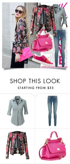 """Pink"" by betty-boop23 ❤ liked on Polyvore featuring LE3NO, Yves Saint Laurent, Balmain, Dolce&Gabbana and Tod's"