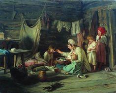 """El enfermo (""""The convalescent""""). Karl Lemoch. 1889. Localización: Primorye State Art Gallery (Vladivostok). https://painthealth.wordpress.com/2017/05/24/el-enfermo/"""