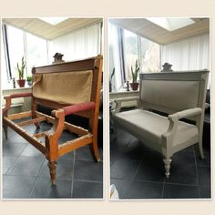 Gammel sofa. Accent Chairs, Sofa, Homemade, Furniture, Home Decor, Upholstered Chairs, Settee, Decoration Home, Home Made