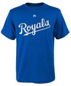 Majestic Salvador Perez Kansas City Royals Official Player T-Shirt, Big Boys (8-20) - Black XL