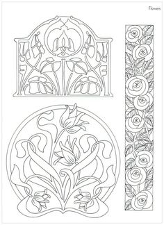 The ornamental Art Nouveau style in the interior design and .- Der ornamentreiche Jugendstil in der Innenarchitektur und Einrichtung art nouveau pattern-template-template-flower-motive - Motifs Art Nouveau, Design Art Nouveau, Motif Art Deco, Art Nouveau Pattern, Flores Art Nouveau, Art Nouveau Flowers, Alphonse Mucha, Muebles Estilo Art Nouveau, Tattoo Painting
