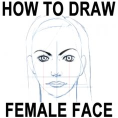 How to Draw Female Faces in Correct Proportions with Easy Drawing Lesson